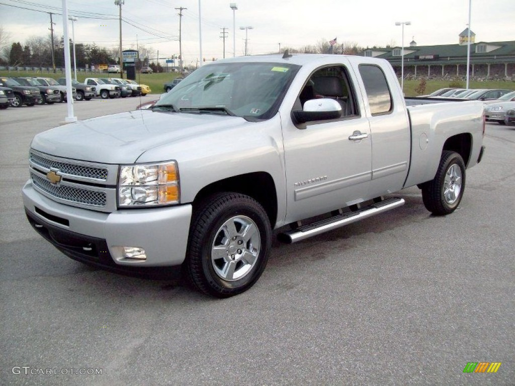 silver ice metallic 2012 chevrolet silverado 1500 ltz extended cab 4x4 exterior photo 58176062. Black Bedroom Furniture Sets. Home Design Ideas