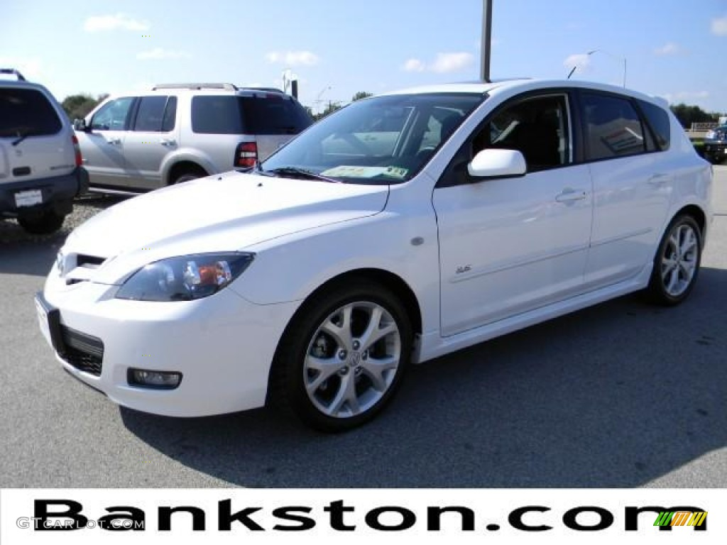 2009 crystal white pearl mica mazda mazda3 s sport. Black Bedroom Furniture Sets. Home Design Ideas