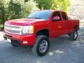 2009 Victory Red Chevrolet Silverado 1500 LTZ Extended Cab 4x4  photo #5