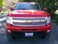 2009 Victory Red Chevrolet Silverado 1500 LTZ Extended Cab 4x4  photo #6