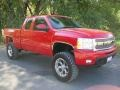 2009 Victory Red Chevrolet Silverado 1500 LTZ Extended Cab 4x4  photo #39