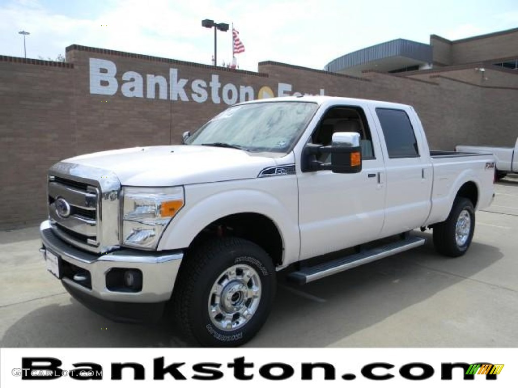 2012 white platinum metallic tri coat ford f250 super duty lariat crew cab 4x4 57872313 photo. Black Bedroom Furniture Sets. Home Design Ideas