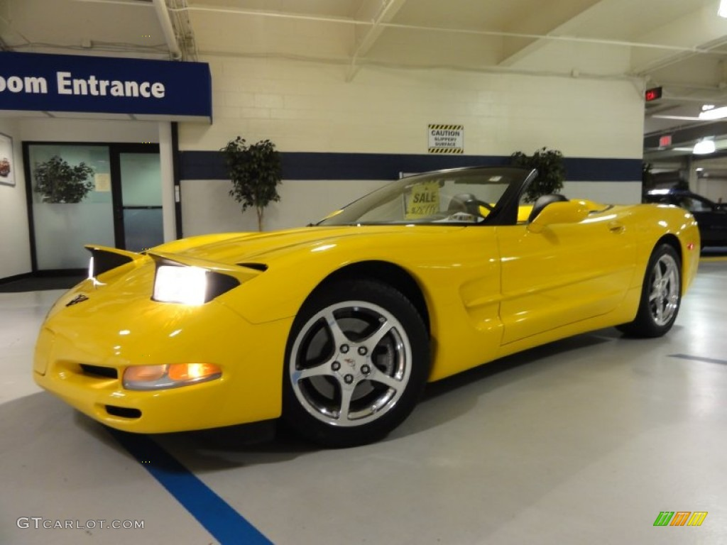 2004 corvette convertible millenium yellow black photo 2