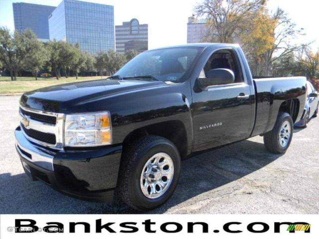 2011 Silverado 1500 Regular Cab - Black / Dark Titanium photo #1