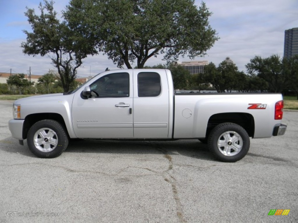 2012 Silverado 1500 LT Extended Cab - Silver Ice Metallic / Ebony photo #5