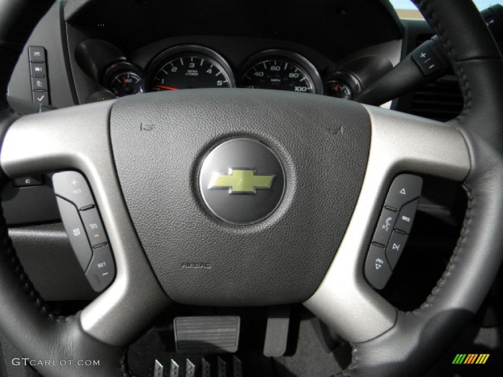 2012 Silverado 1500 LT Extended Cab - Silver Ice Metallic / Ebony photo #11