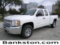 2012 Summit White Chevrolet Silverado 1500 LS Extended Cab 4x4  photo #1