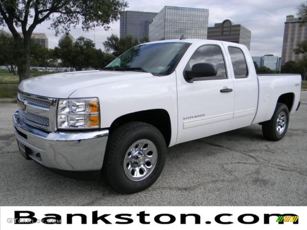 2012 Silverado 1500 LS Extended Cab 4x4 - Summit White / Dark Titanium photo #1