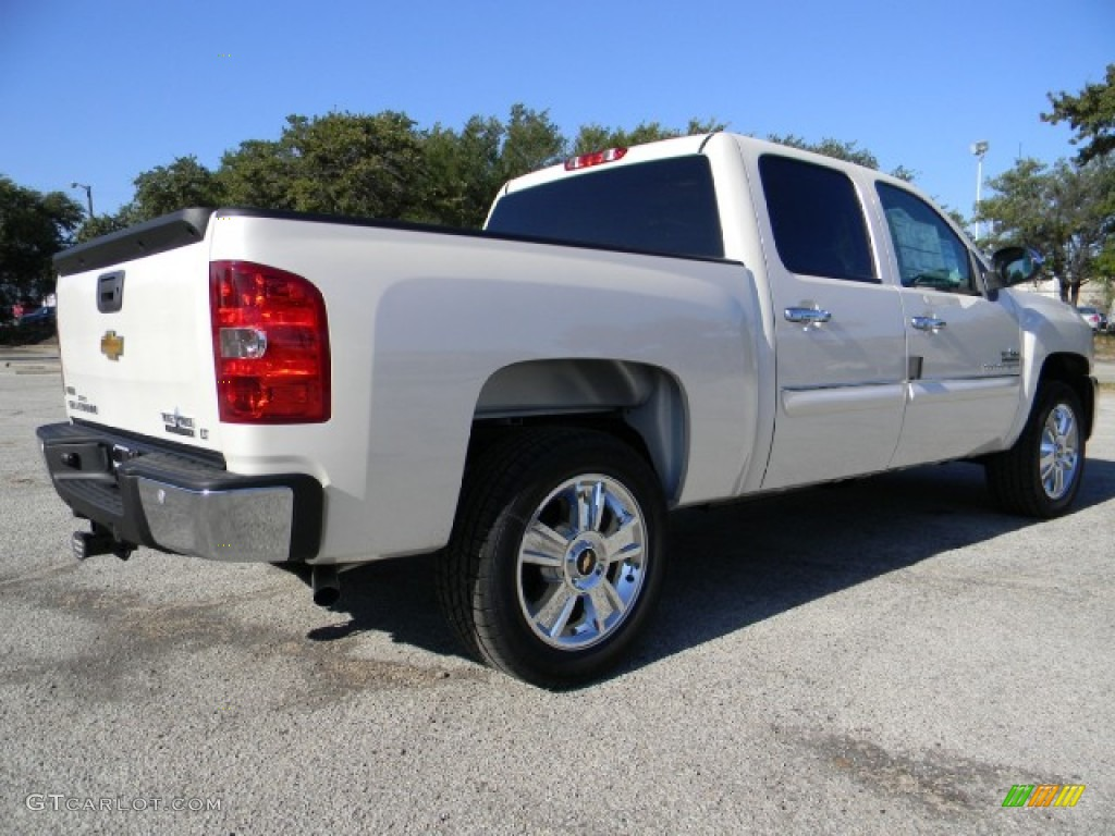 2012 Silverado 1500 LT Crew Cab - White Diamond Tricoat / Ebony photo #3