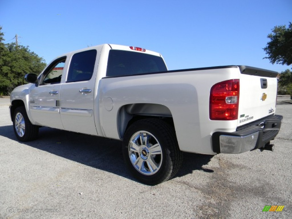 2012 Silverado 1500 LT Crew Cab - White Diamond Tricoat / Ebony photo #4