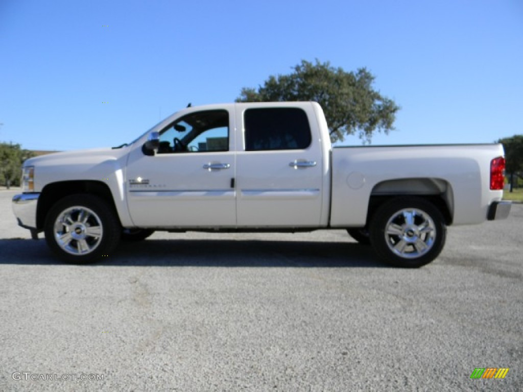 2012 Silverado 1500 LT Crew Cab - White Diamond Tricoat / Ebony photo #5