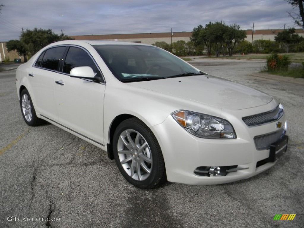 white diamond tricoat 2012 chevrolet malibu ltz exterior. Black Bedroom Furniture Sets. Home Design Ideas