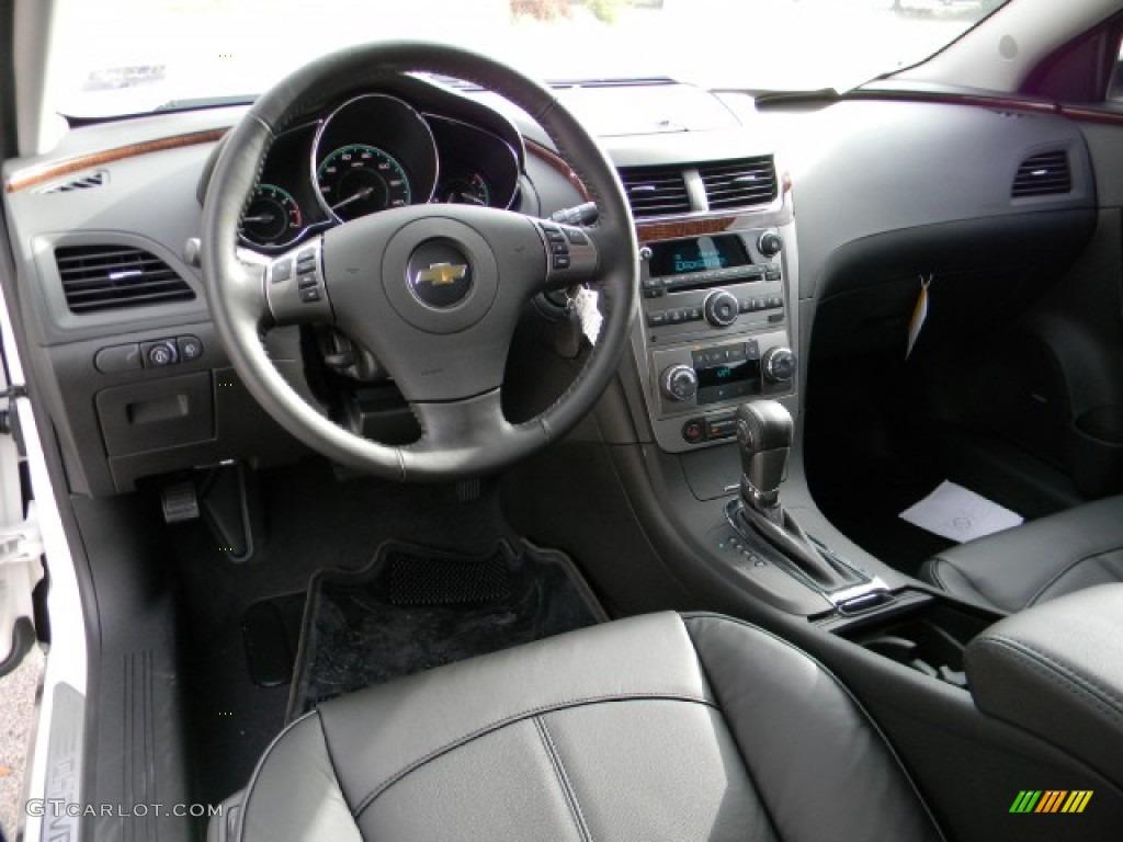 Ebony Interior 2012 Chevrolet Malibu Ltz Photo 58220590