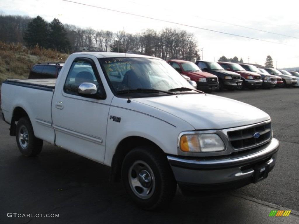 1997 Ford F150 White >> 1997 Oxford White Ford F150 Xl Regular Cab 57874995 Gtcarlot Com