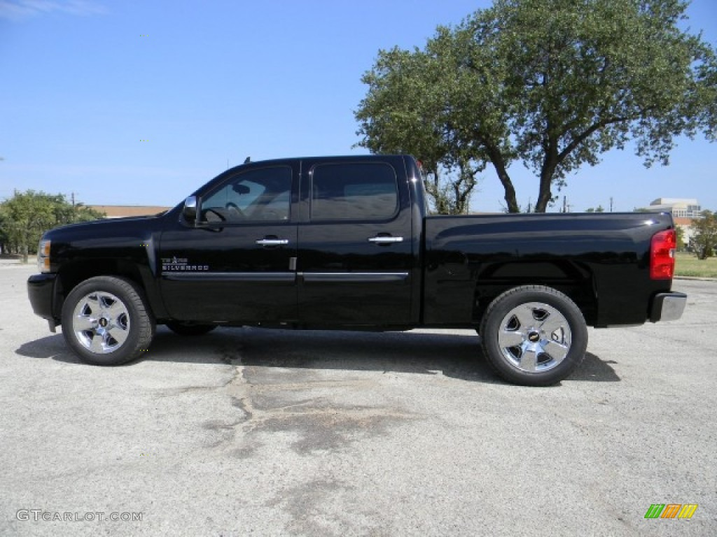 black 2011 chevrolet silverado 1500 lt crew cab exterior photo 58228791. Black Bedroom Furniture Sets. Home Design Ideas