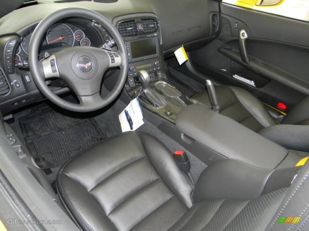 Ebony Black Interior 2011 Chevrolet Corvette Grand Sport Convertible Photo 58231133