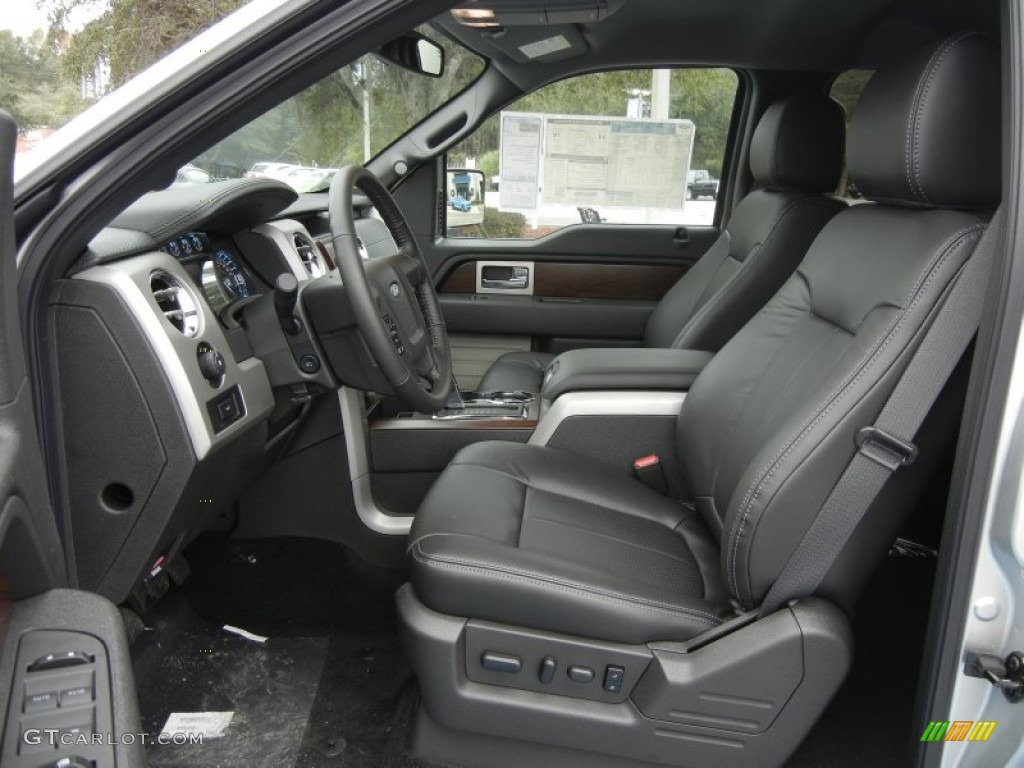 Black Interior 2012 Ford F150 Lariat Supercrew 4x4 Photo 58236166