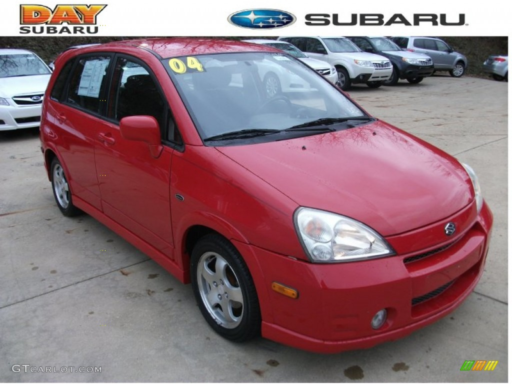 2004 racy red suzuki aerio sx sport wagon 58238678 gtcarlot com car color galleries gtcarlot com