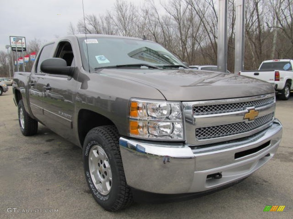 2012 Silverado 1500 LT Crew Cab 4x4 - Mocha Steel Metallic / Ebony photo #5