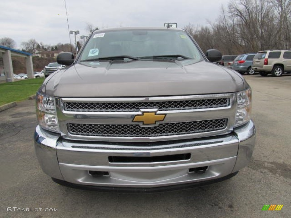 2012 Silverado 1500 LT Crew Cab 4x4 - Mocha Steel Metallic / Ebony photo #6