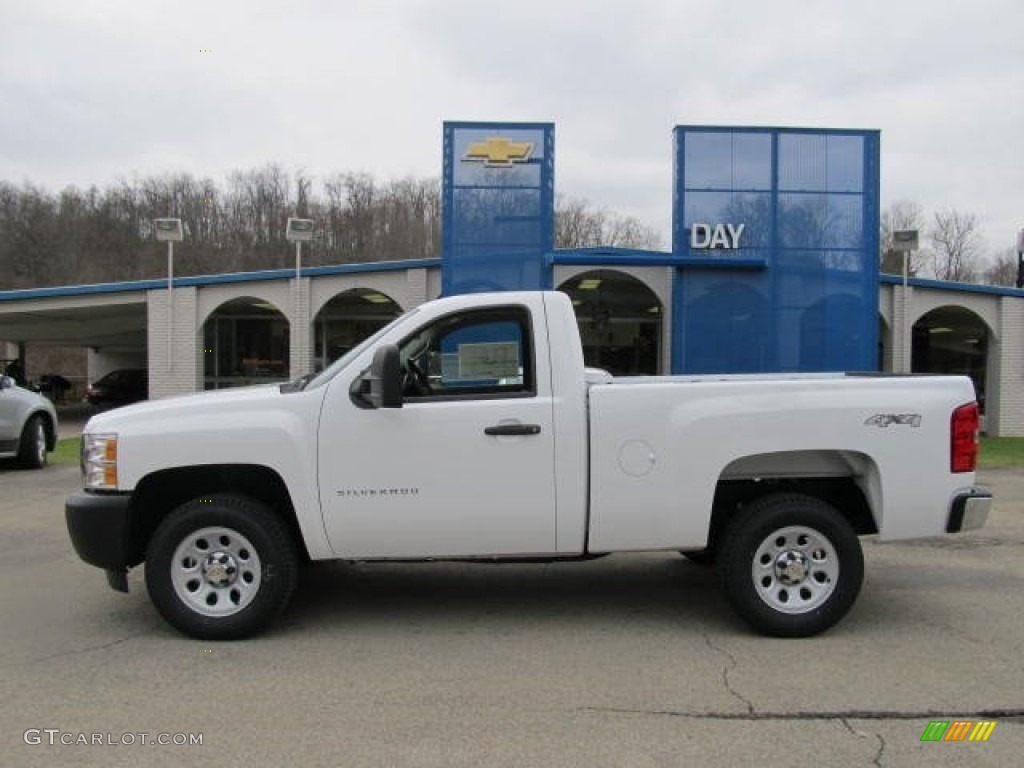 2012 Silverado 1500 Work Truck Regular Cab 4x4 - Summit White / Dark Titanium photo #2