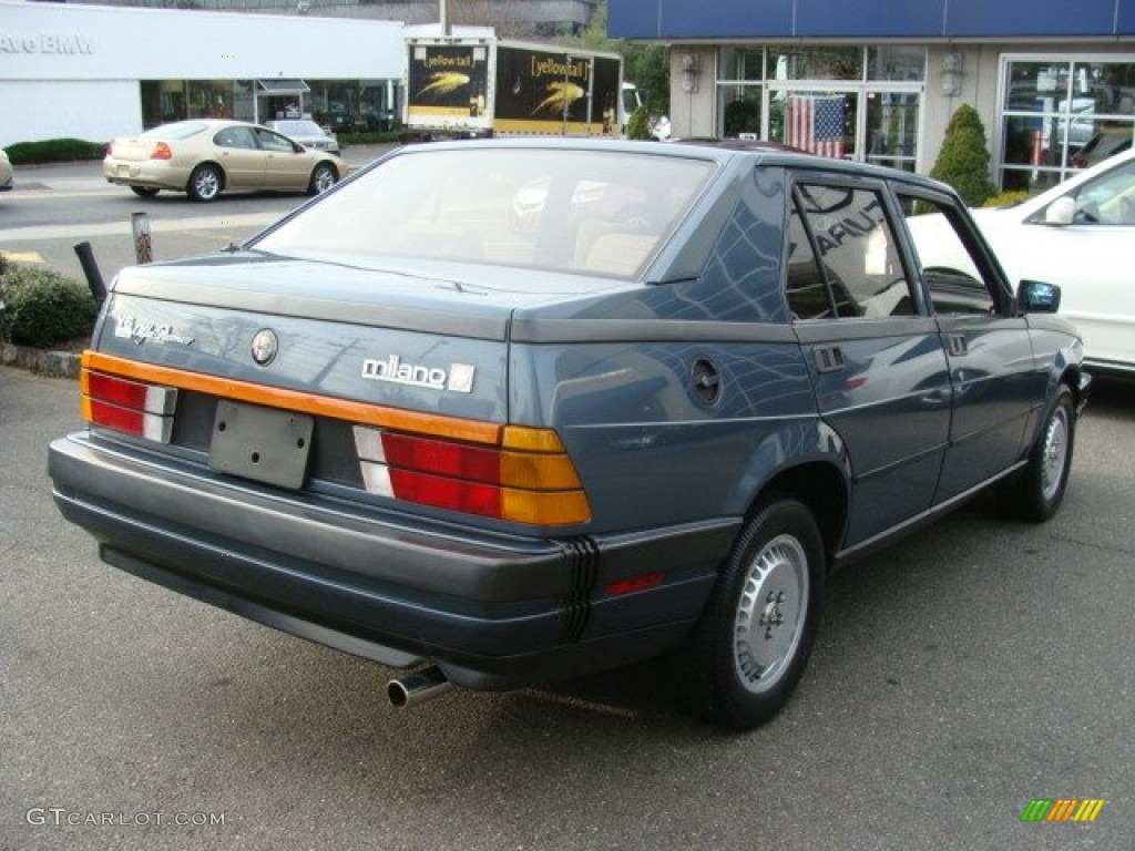 Blue Metallic 1987 Alfa Romeo Milano Silver Exterior Photo ...