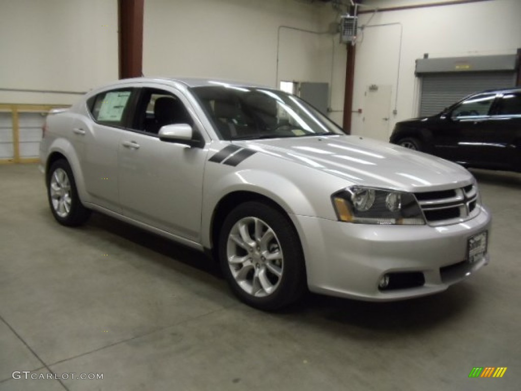 Bright Silver Metallic 2012 Dodge Avenger RT Exterior Photo