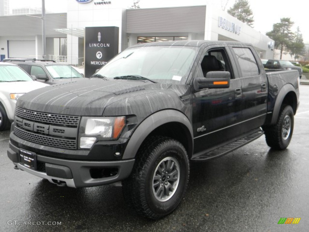 2011 f150 svt raptor supercrew 4x4 ebony black raptor black photo 1