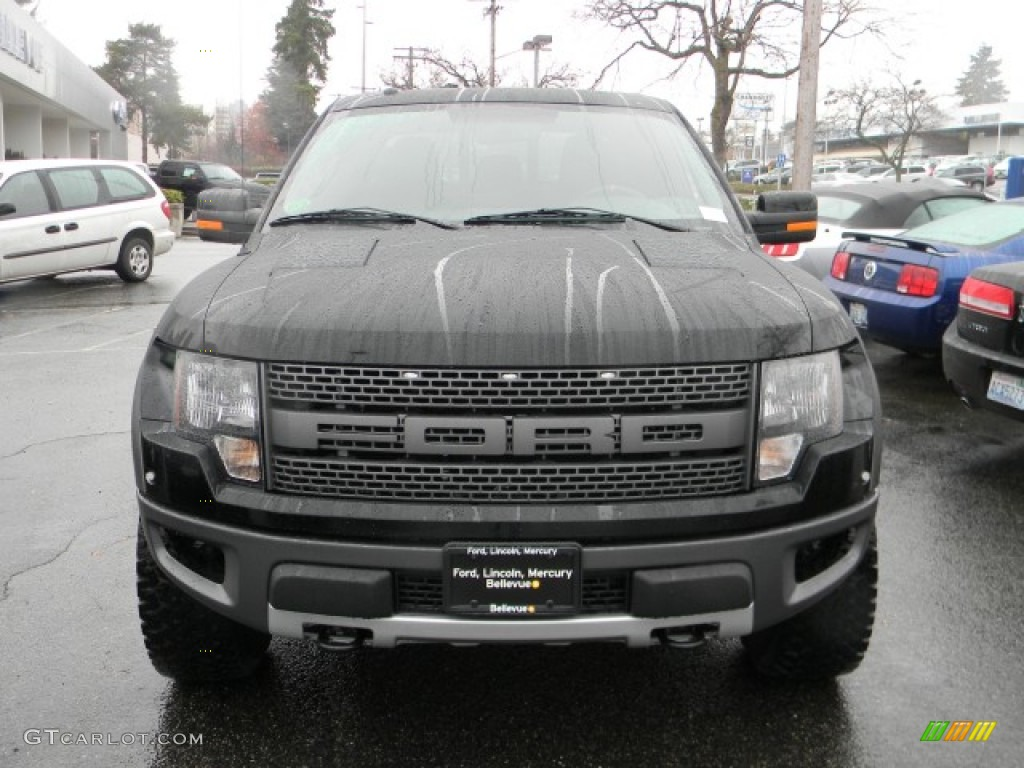 2011 ebony black ford f150 svt raptor supercrew 4x4 58238475 photo 2 car. Black Bedroom Furniture Sets. Home Design Ideas