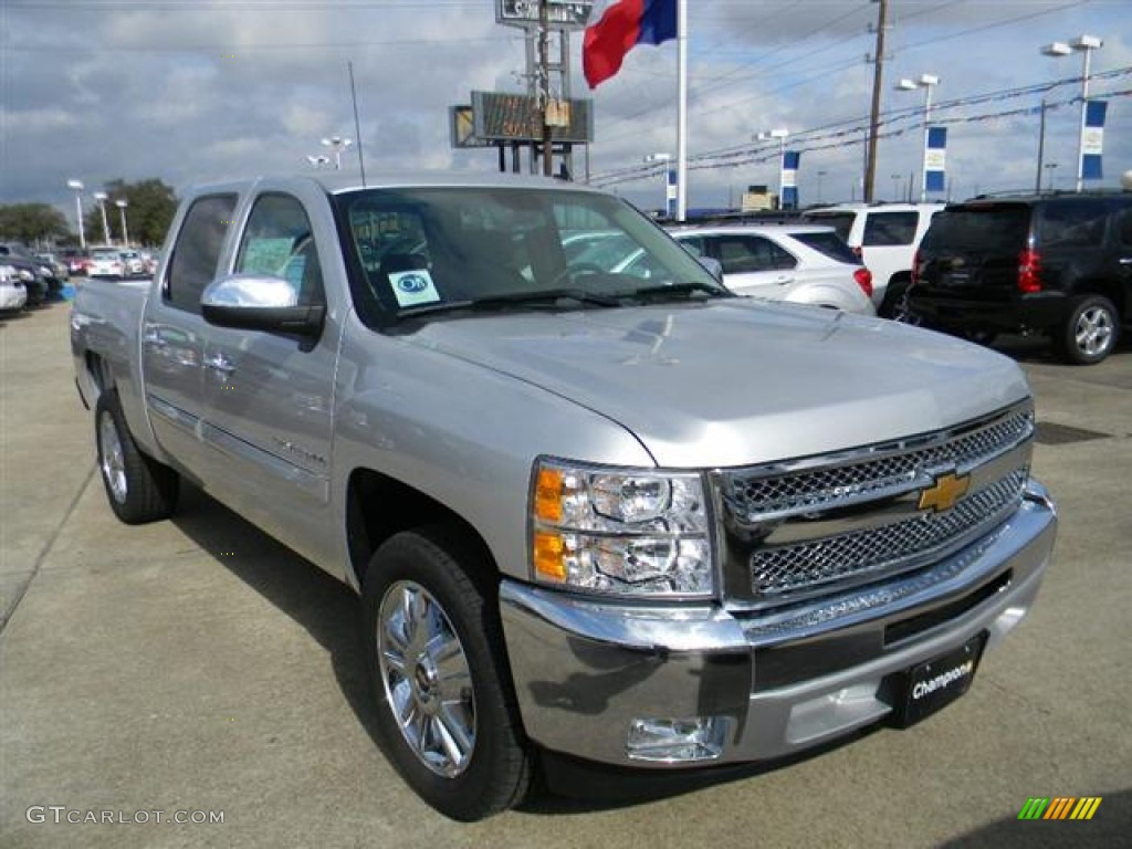 2012 Silverado 1500 LT Crew Cab - Silver Ice Metallic / Ebony photo #3
