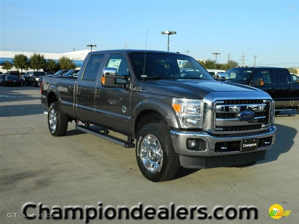 2012 sterling grey metallic ford f350 super duty lariat crew cab 4x4 58238260. Black Bedroom Furniture Sets. Home Design Ideas