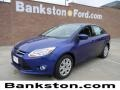 2012 Sonic Blue Metallic Ford Focus SE Sedan  photo #1