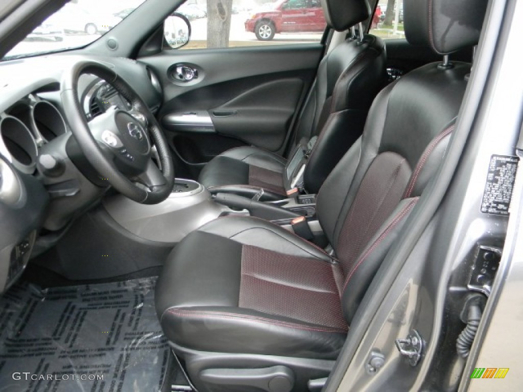 black red w silver trim interior 2011 nissan juke sl photo 58318638. Black Bedroom Furniture Sets. Home Design Ideas
