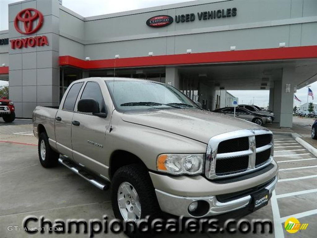 2005 Ram 1500 SLT Quad Cab - Light Almond Pearl / Taupe photo #1