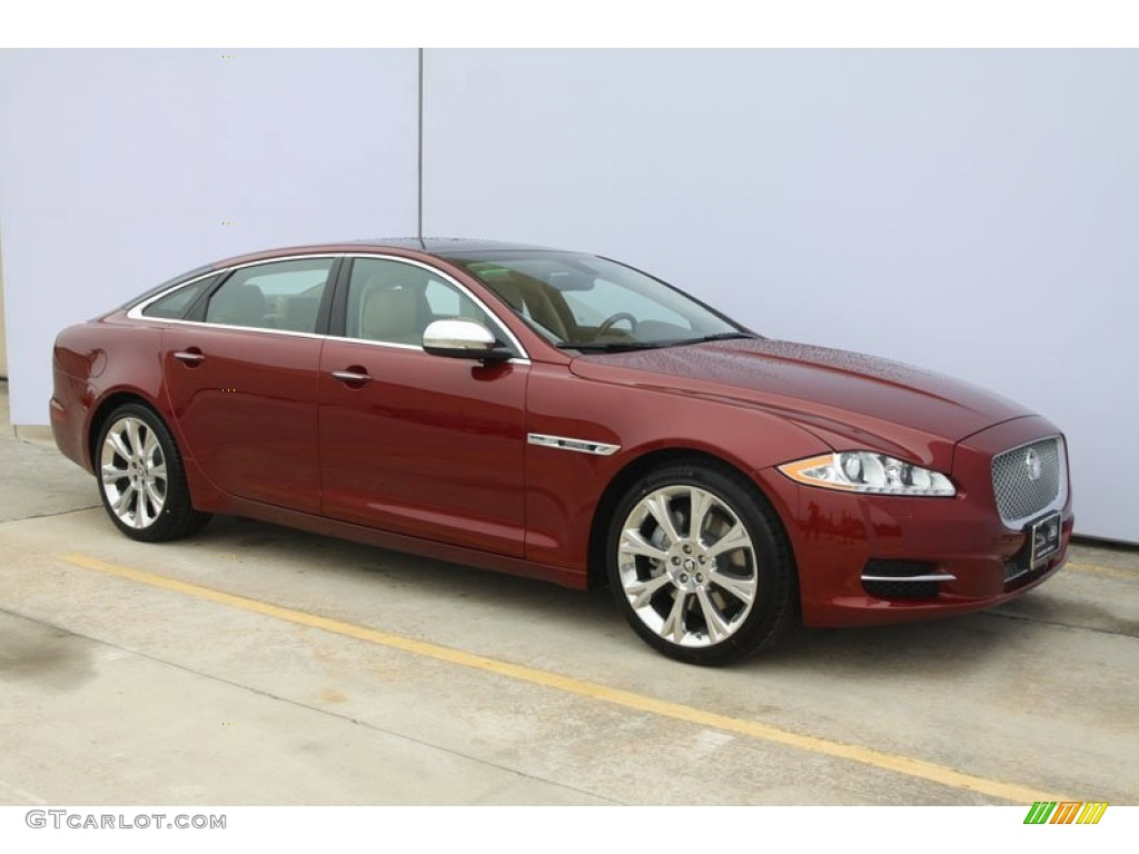 Claret red metallic 2012 jaguar xj xjl portfolio exterior for Jaguar xj exterior