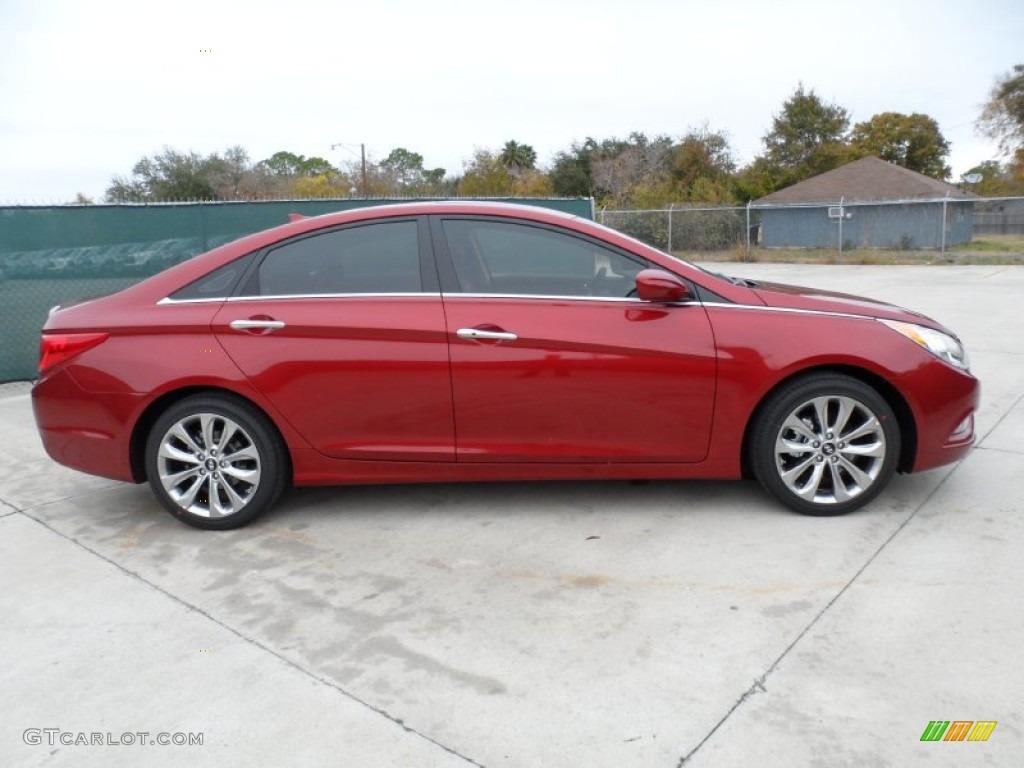 Sparkling Ruby Red 2012 Hyundai Sonata Se 2 0t Exterior