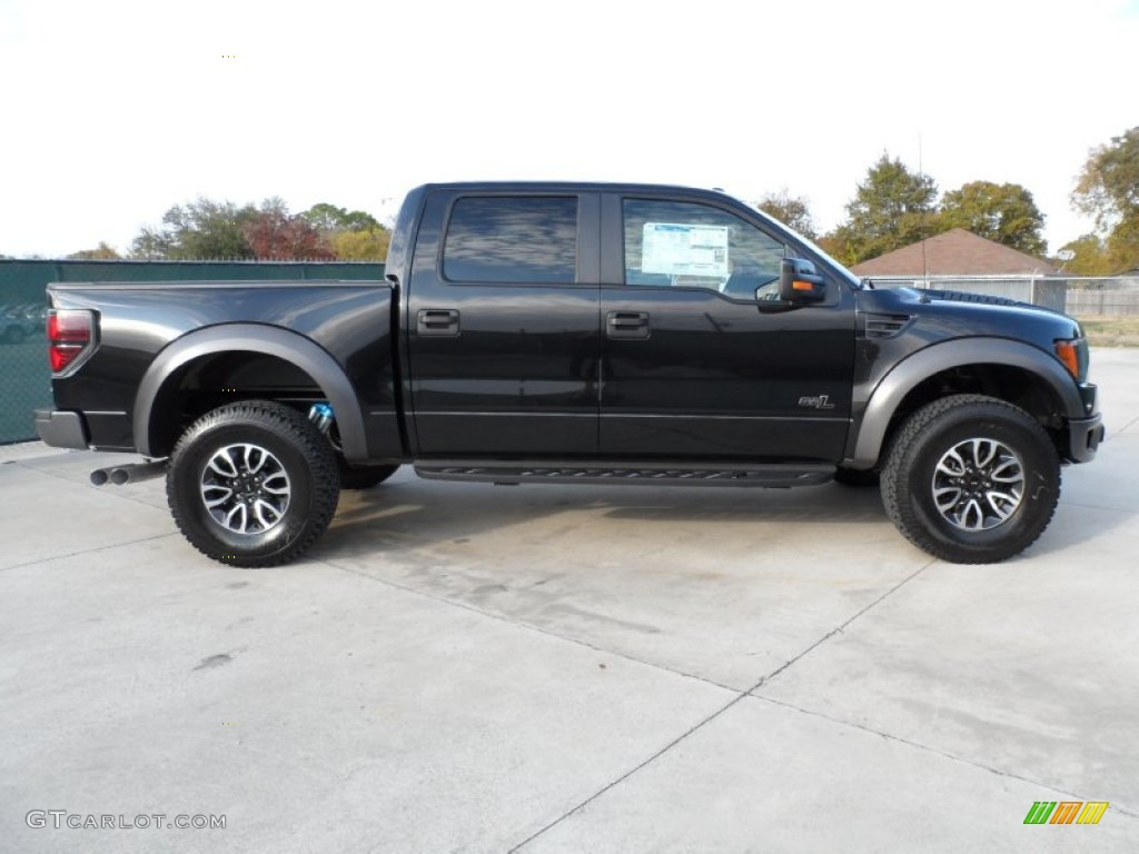 tuxedo black metallic 2012 ford f150 svt raptor supercrew 4x4 exterior photo 58335737. Black Bedroom Furniture Sets. Home Design Ideas