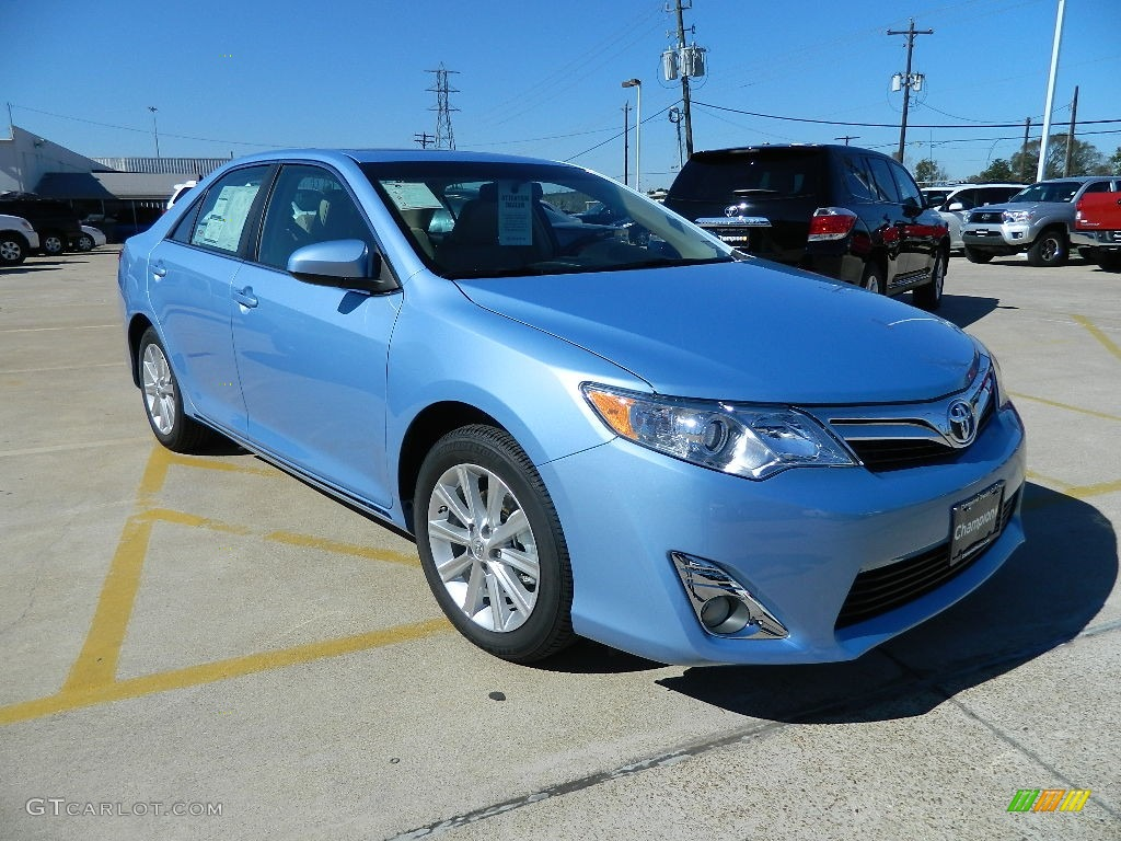 2012 clearwater blue metallic toyota camry xle v6 57874717 car color galleries. Black Bedroom Furniture Sets. Home Design Ideas