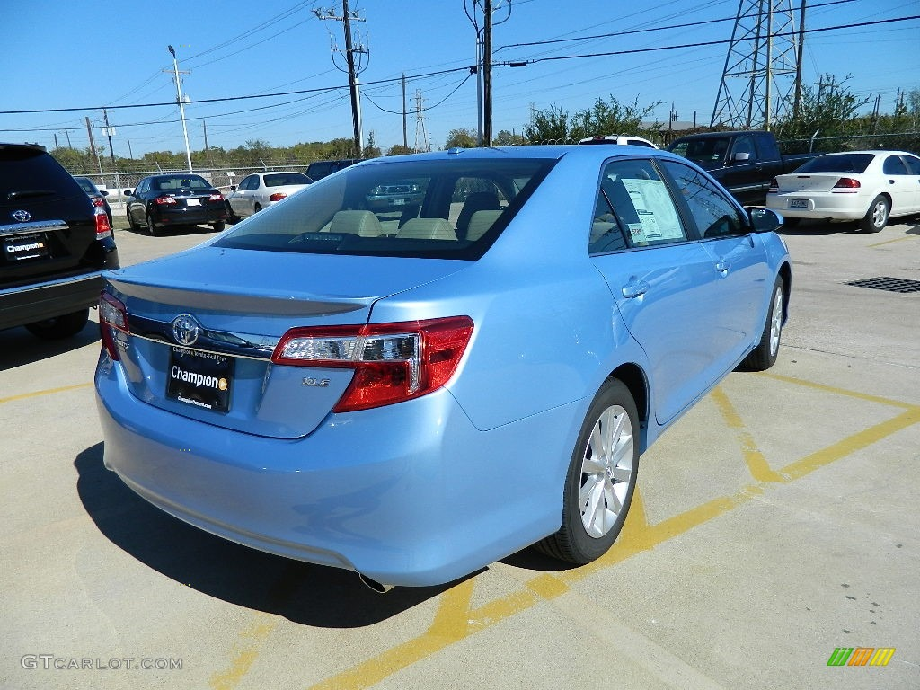 2012 clearwater blue metallic toyota camry xle v6 57874717 photo 3 car color. Black Bedroom Furniture Sets. Home Design Ideas