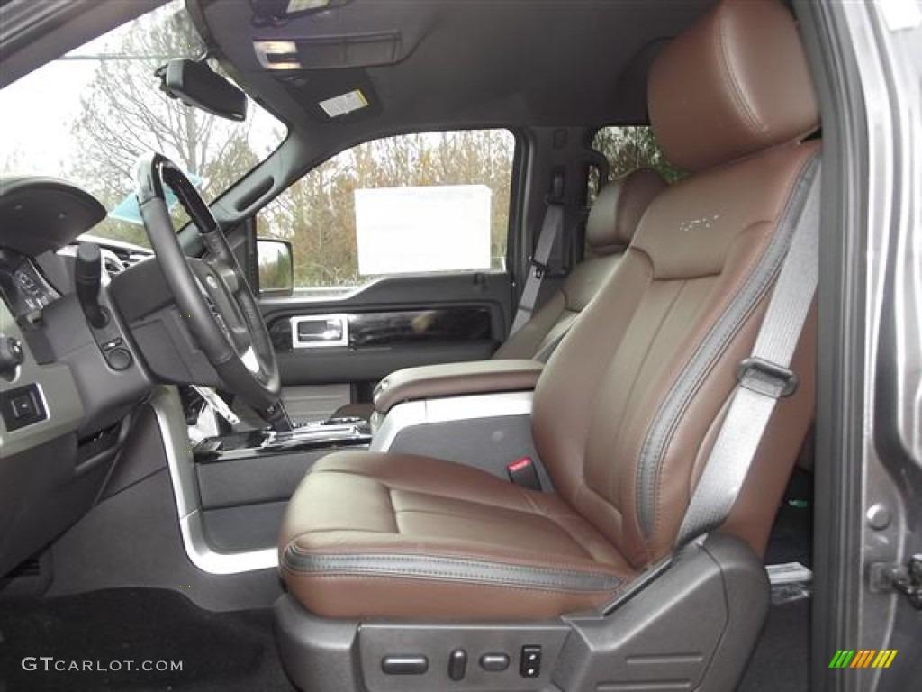 platinum sienna brownblack leather interior  ford  platinum supercrew  photo