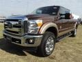 2012 Golden Bronze Metallic Ford F250 Super Duty Lariat Crew Cab 4x4  photo #3