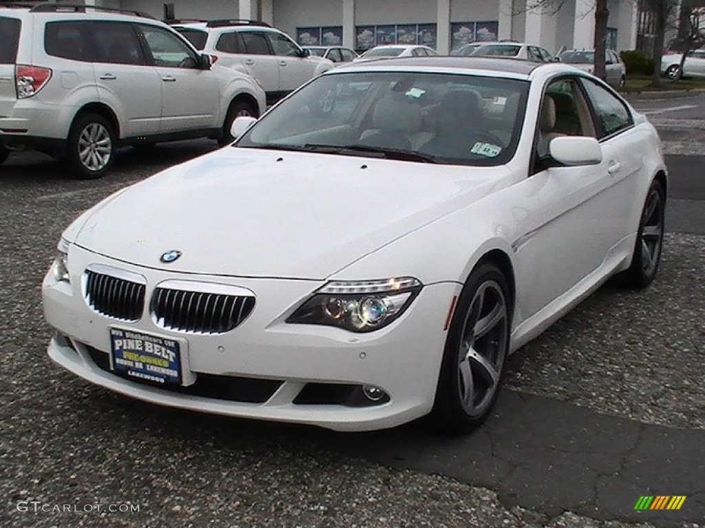 2008 brilliant white metallic bmw 6 series 650i coupe. Black Bedroom Furniture Sets. Home Design Ideas