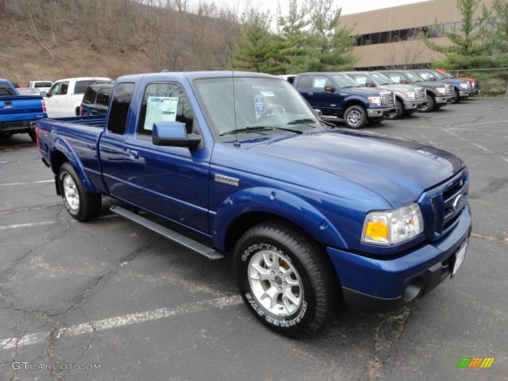 vista blue metallic 2011 ford ranger sport supercab 4x4 exterior photo 58362453. Black Bedroom Furniture Sets. Home Design Ideas