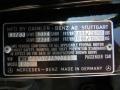 Info Tag of 1988 S Class 560 SEL Sedan