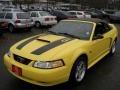 2000 Zinc Yellow Ford Mustang GT Convertible  photo #1