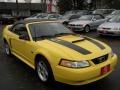 2000 Zinc Yellow Ford Mustang GT Convertible  photo #2