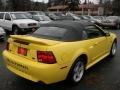 2000 Zinc Yellow Ford Mustang GT Convertible  photo #5