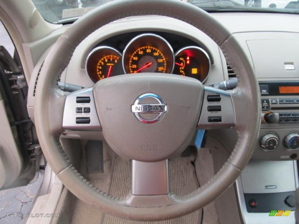2006 Nissan Altima 2.5 S Special Edition Blond Steering Wheel Photo  #58407830