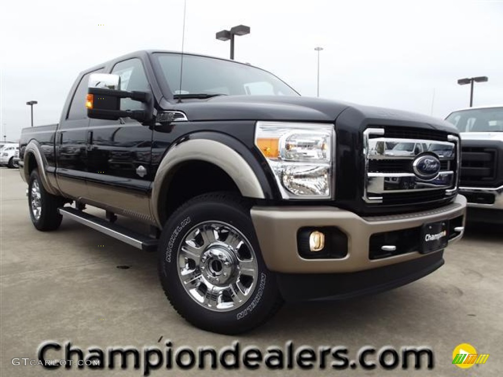 2012 tuxedo black metallic ford f250 super duty king ranch crew cab 4x4 58396621. Black Bedroom Furniture Sets. Home Design Ideas