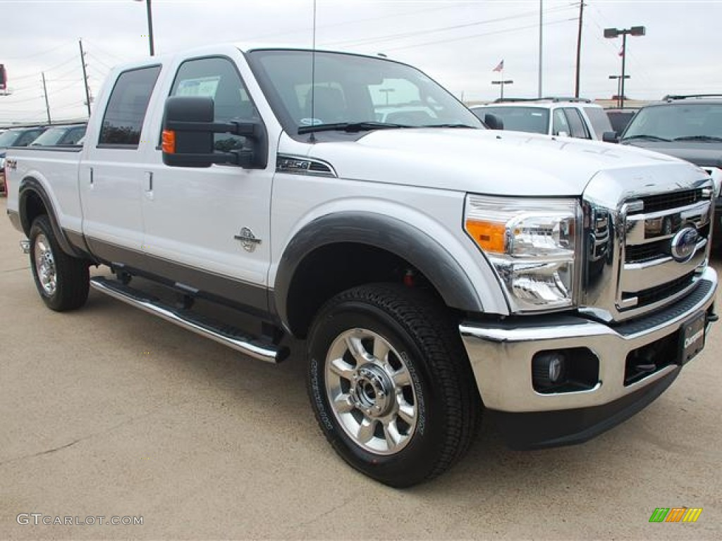 2012 oxford white ford f250 super duty lariat crew cab 4x4 58396612 photo 2. Black Bedroom Furniture Sets. Home Design Ideas